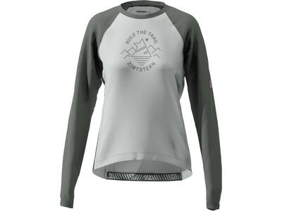 Zimtstern PureFlowz Shirt LS Women's, grey/gun metal/blush - Radtrikot