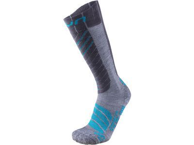 UYN Comfort Fit Ski Socks Lady grey/turquoise