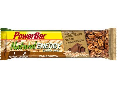 PowerBar Natural Energy Cereal (Vegan) - Cacao Crunch - Energieriegel