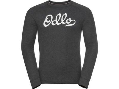 Odlo Men's Active Warm Originals Eco Baselayer Top, dark grey melange