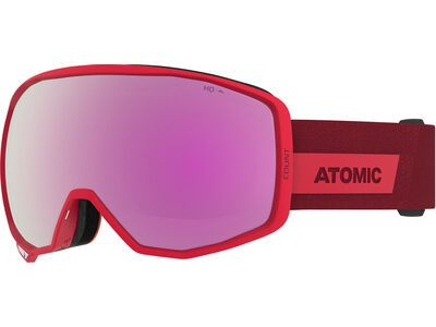 Atomic Count HD, red/Lens: pink/copper hd - Skibrille