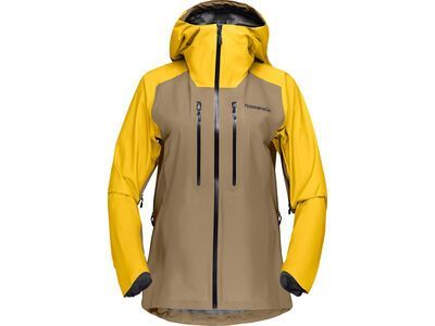 Norrona lyngen Gore-Tex Jacket W's, lemon chrome/elmwood - Skijacke