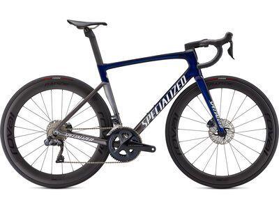 Specialized Tarmac SL7 Pro Ultegra Di2 2021, blue tint/smoke/white silver - Rennrad